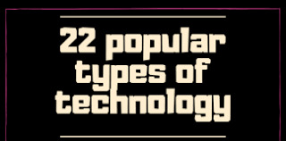 22 popular types of technology in all the fields of life - 2020 [updated]