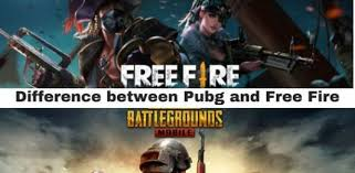 Free fire online video game vs Pubg (a brief difference between them)